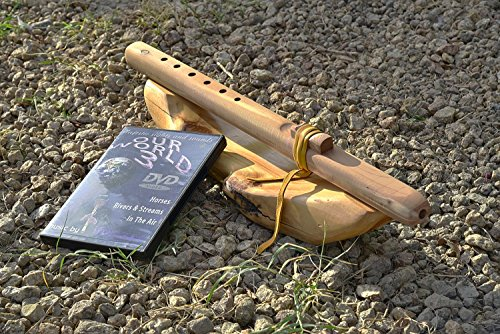 Windpony key of A 6-hole Unfinished Cedar Native American Style Flute with DVD