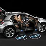 iTimo Car Door Projector Lights 2 Pcs Wireless Led Car Lights With Magnet Sensor Auto Courtesy Welcome Logo Shadow Lamp Battery Operated 6AAA included(Batman)
