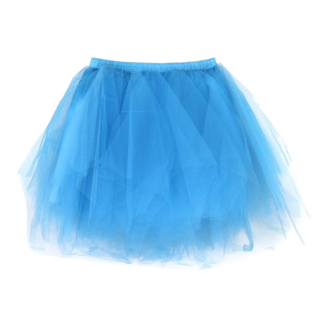 LNGRY Womens Pleated Gauze Short Skirt Adult Tutu Dancing Skirt, Multicolor Multicolor (Black)