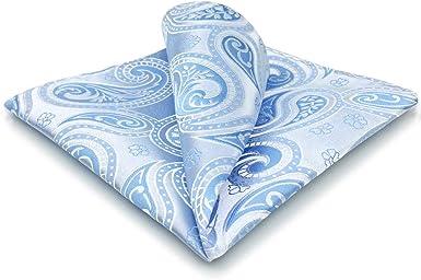 Hankie Pocket Square Handkerchief Dark Blue /& Green Paisley