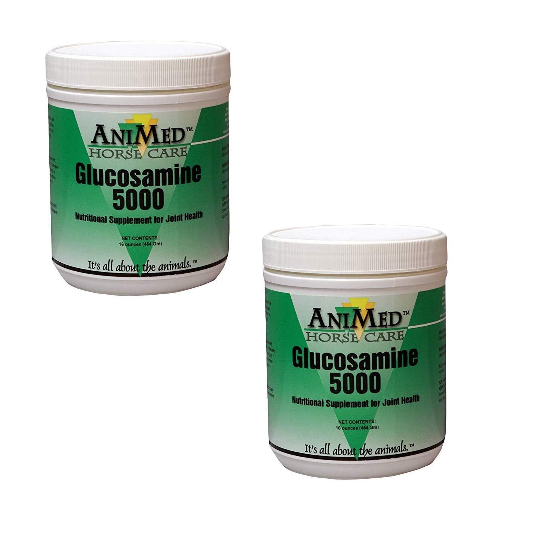 AniMed Horse Glucosamine 5000 Supplement, 16 oz (2 Pack)