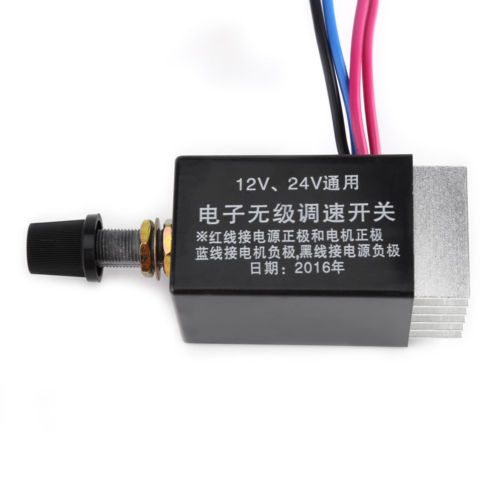 120W//240W DC Motor Speed Control Switch 10A for Car Truck Fan Heater Control Acogedor Adjustable Motor Speed Controller Switch 12V//24V