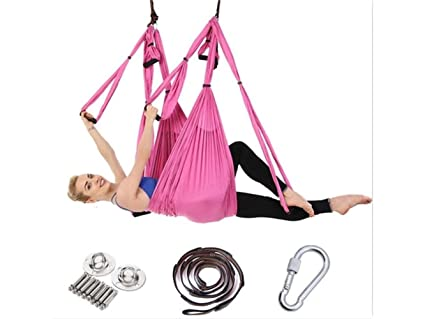 Amazon.com : Andosange Fitness Aerial Yoga Swing Ultra ...