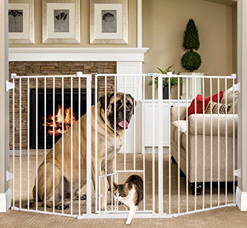 Carlson Extra-Tall Flexi Pet Gate (Carlson Extra Wide Gate With Small Pet Door)