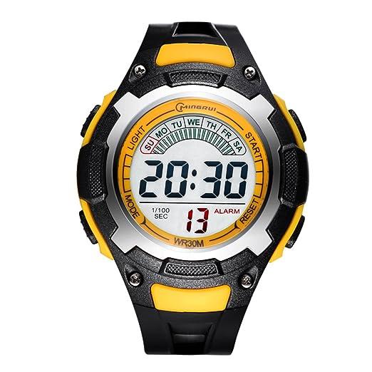 Niño] Relojes electrónicos,Relojes deportivos Estudiante Encantador] Impermeable Réplica luminosa Correa con hebilla pasador-C: Amazon.es: Relojes