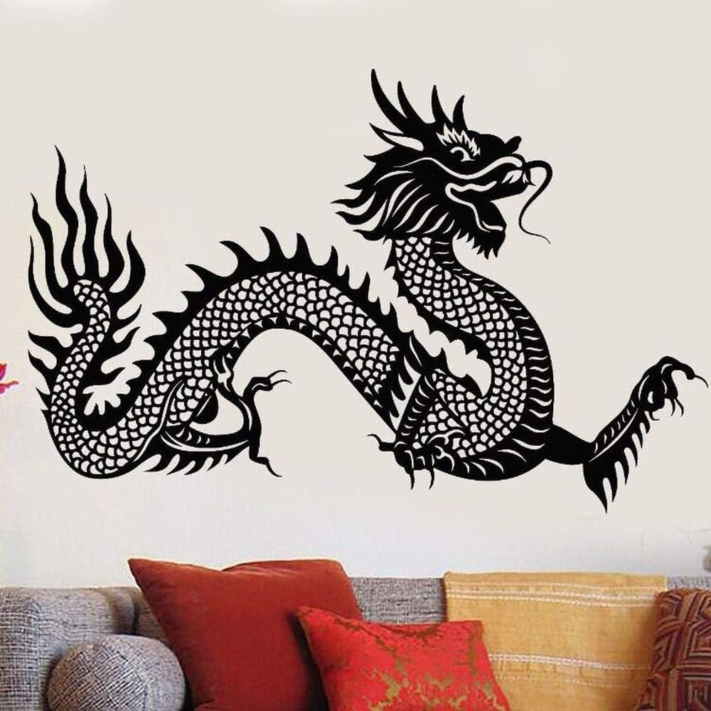 Idolxu vinilo tatuajes de pared símbolo del dragón chino etiqueta ...