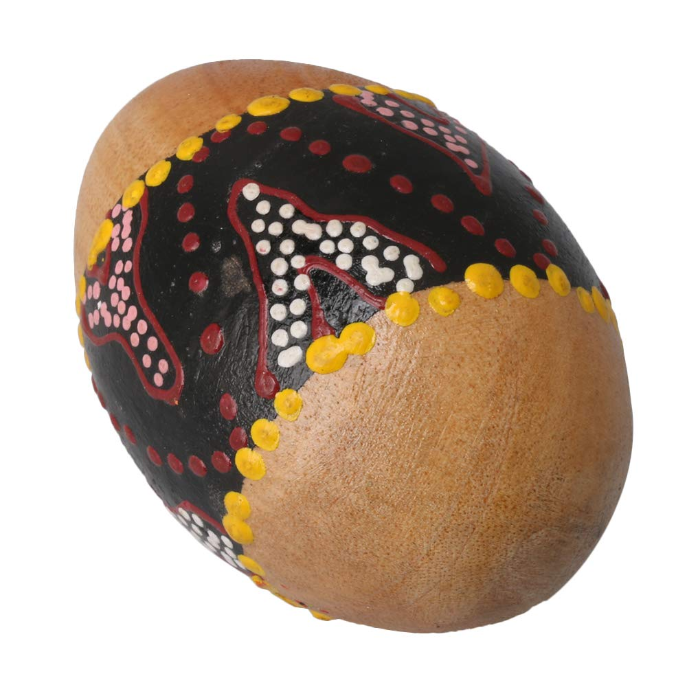 Mxfans Painted Sand Shaker Wooden Percussion Musical Egg Maracas Instrument Toy blhlltd M3181023017