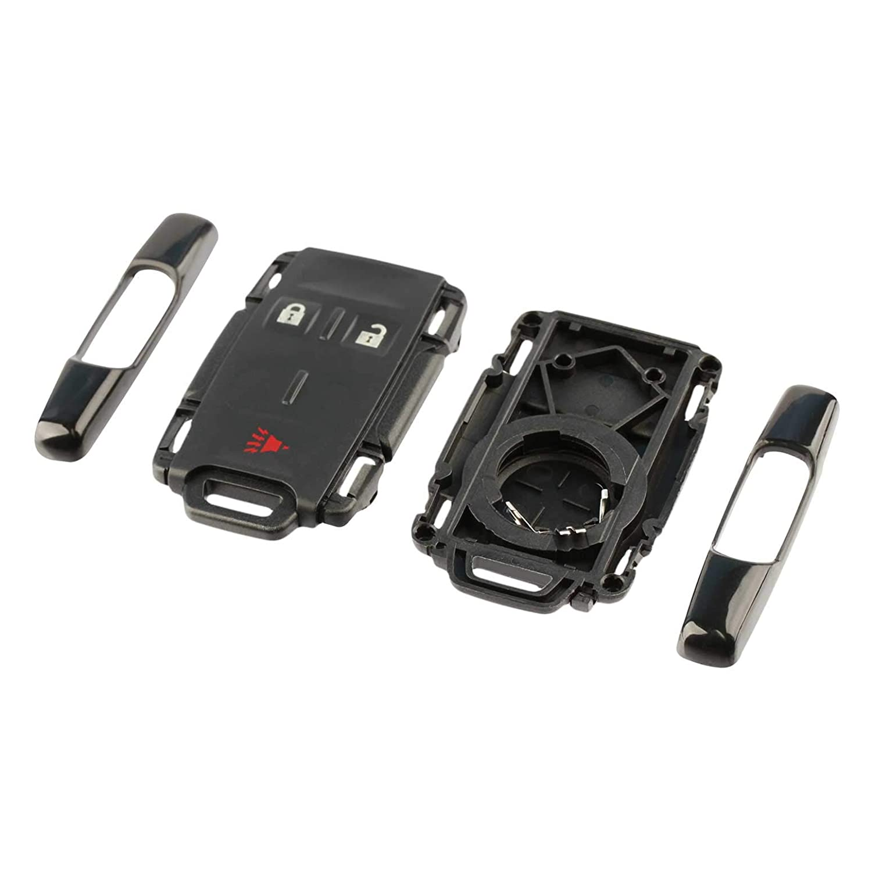 Set of 2 M3N-32337100 Key Fob Keyless Entry Remote Shell Case /& Pad fits Chevy Silverado Colorado//GMC Sierra Canyon 2014 2015 2016 2017