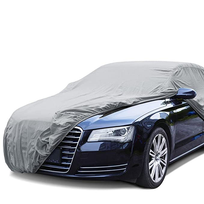 "BDK Universal Fit Cover for Car, Sedan - UV & Dust Proof, Water Resistant (Gray) (Fit up to 190"")"