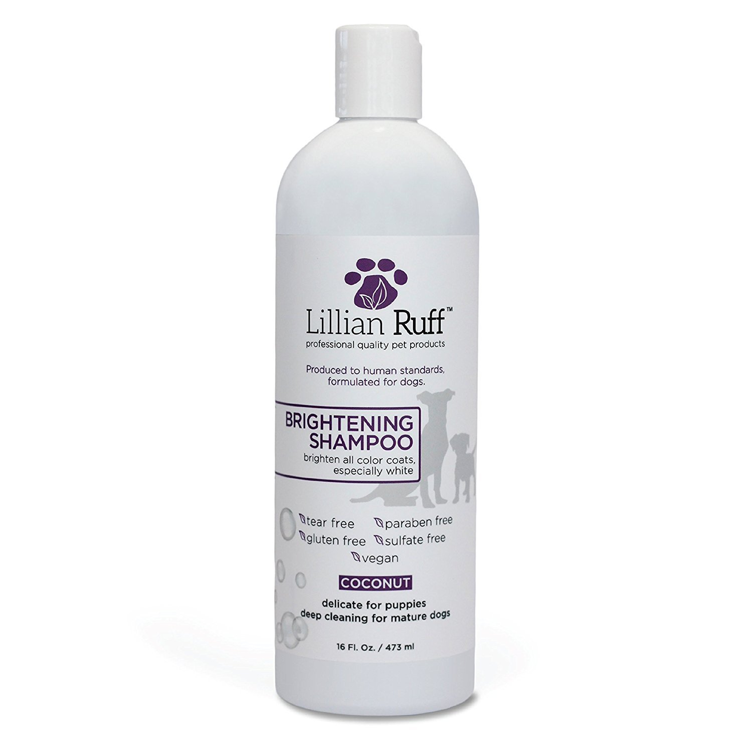 16 oz Radiant Coconut Brightening Shampoo for Pets by LILLIAN RUFF (16 oz.)