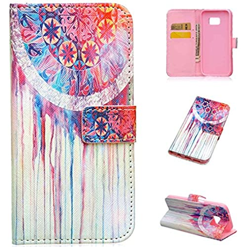 Galaxy S7 Case, S7 Case, LANDEE The unique design PU Leather Wallet Stand Flip Case Cover for Samsung Galaxy S7 (watercolor)(S7-P-0007) Sales