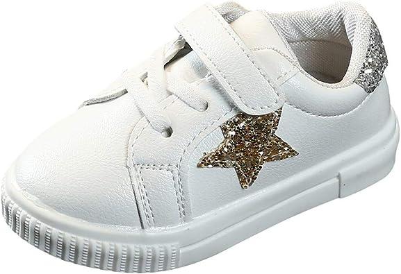 SO-buts Niños Niños Bebé Chicas Niños Otoño Bling Estrella Colegio Zapatillas Deportivas Planas Deporte Correr Athletic Blancas Zapatos Casuales: Amazon.es: Zapatos y complementos