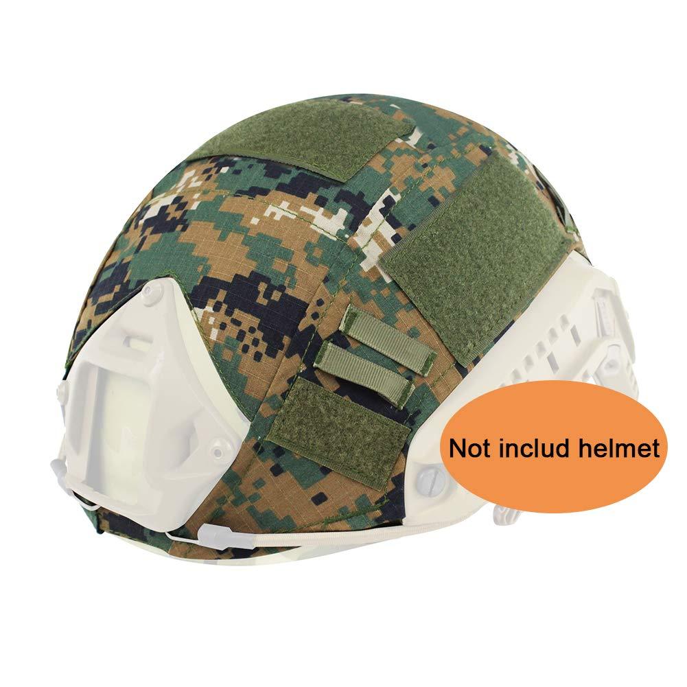 Worldshopping4U Tactical Airsoft caza de estilo militar casco cubierta funda, delete