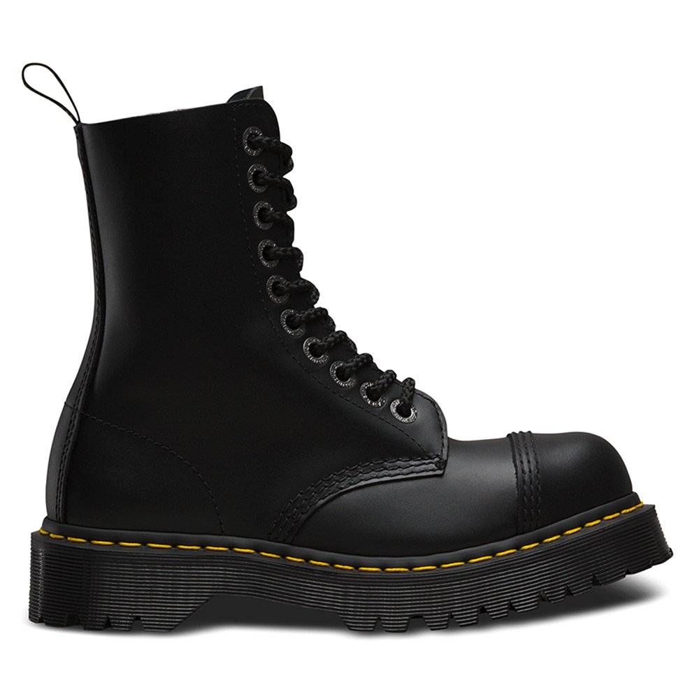 Dr. Martens Unisex 8761 BXB Boot 10-Eye Steel Cap Boot Black Fine Haircell Size UK 6 (8 M US Women) by Dr. Martens (Image #2)