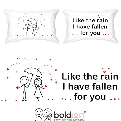 457e235fc7 BoldLoft I Have Fallen for You Couple Pillowcases-Couple Gifts, His and  Hers Gifts