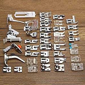 KINGSO 42PCS Professional Domestic Sewing Machine Walking Presser Feet Set Tool for Low Shank Sewing Machine, Singer, Baby Lock, Brother, Janome, etc. from KINGSO