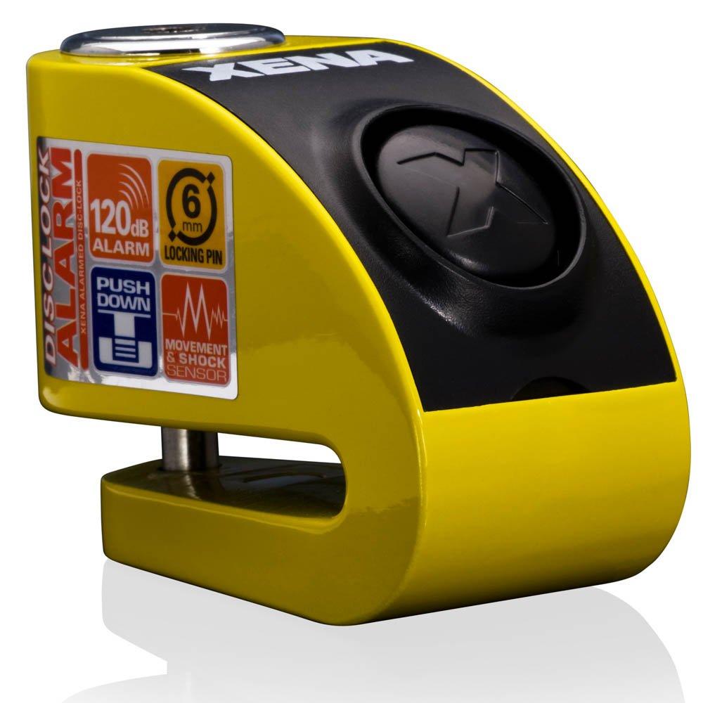 Xena XZZ6L Alarm Brake Disc Lock - 6 mm Pin –  Yellow XZZ6-Y Z10-0106