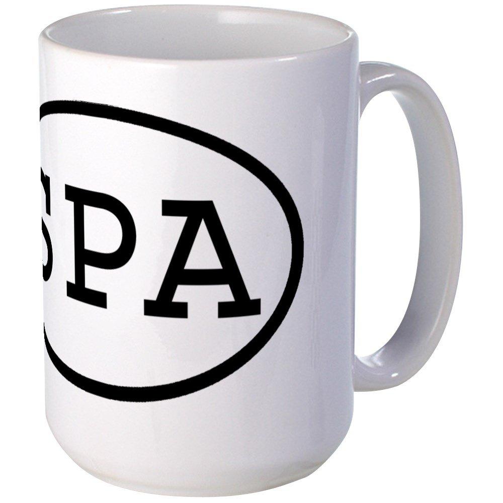 CafePress - SPA Oval Large Mug - Coffee Mug, Large 15 oz. White Coffee Cup