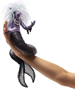 Folkmanis Sea Nymph Finger Puppet, Purple; White; Blue; Black, 1 EA