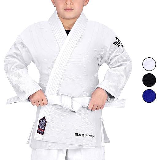 Elite Sports Nuevo Tema Deluxe Kids IJF Judo Gi W/Preencogido Tela ...