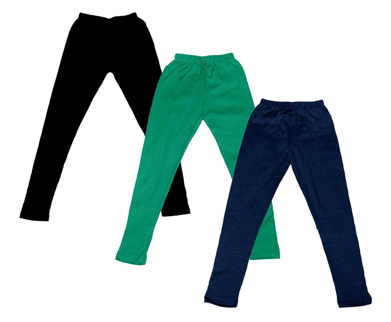 Pack of 3 Indistar Boys Super Soft Ankle Length Cotton Lycra Leggings