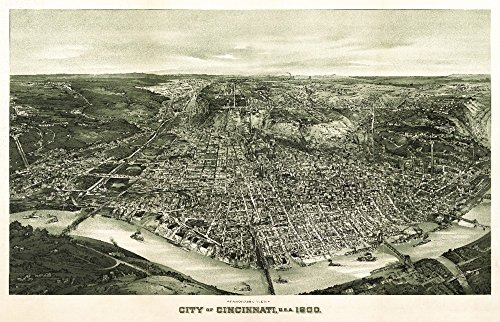 Cincinnati, Ohio - (1899) - Panoramic Map (36x54 Giclee Gallery Print, Wall Decor Travel Poster) ()