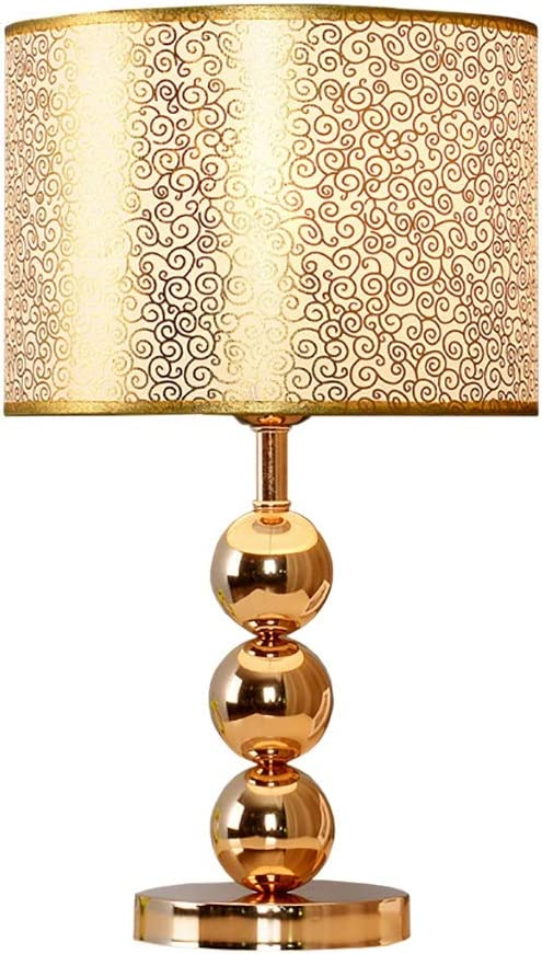 Lámpara de Mesa Decorativa Dorada, lámpara de Mesa de Noche de ...