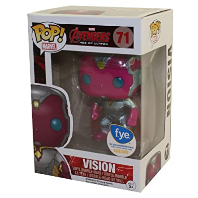 Funko Pop Marvel Avengers Age of Ultron Vision Metallic Exclusive Vinyl Bobblehead Figure: Toys & Games