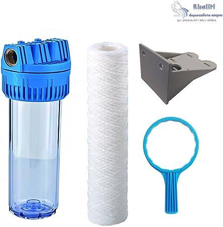 Kit Filtro Purificador agua con hilo enrollado Altura 9.3/4