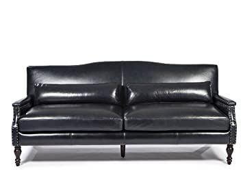Lazzaro Leather Felipe Collection WH 1545 30 9050 Regal Blue Leather Sofa