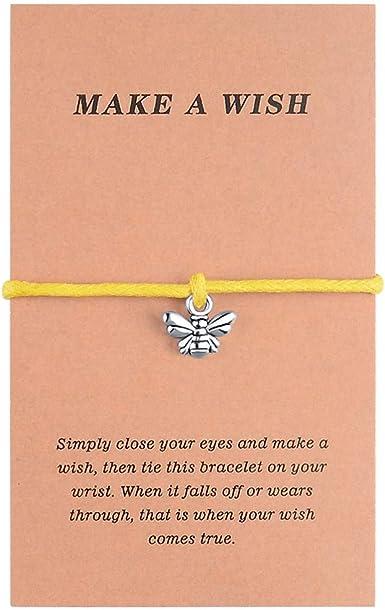 Make a wish bracelet Bee wish bracelet Bee bracelet Wish bracelet