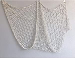 Creamy White Fishing Net Decoration, Fish Netting, Mediterranean Style Photographing Nautical Party Decoration by Brayuefull