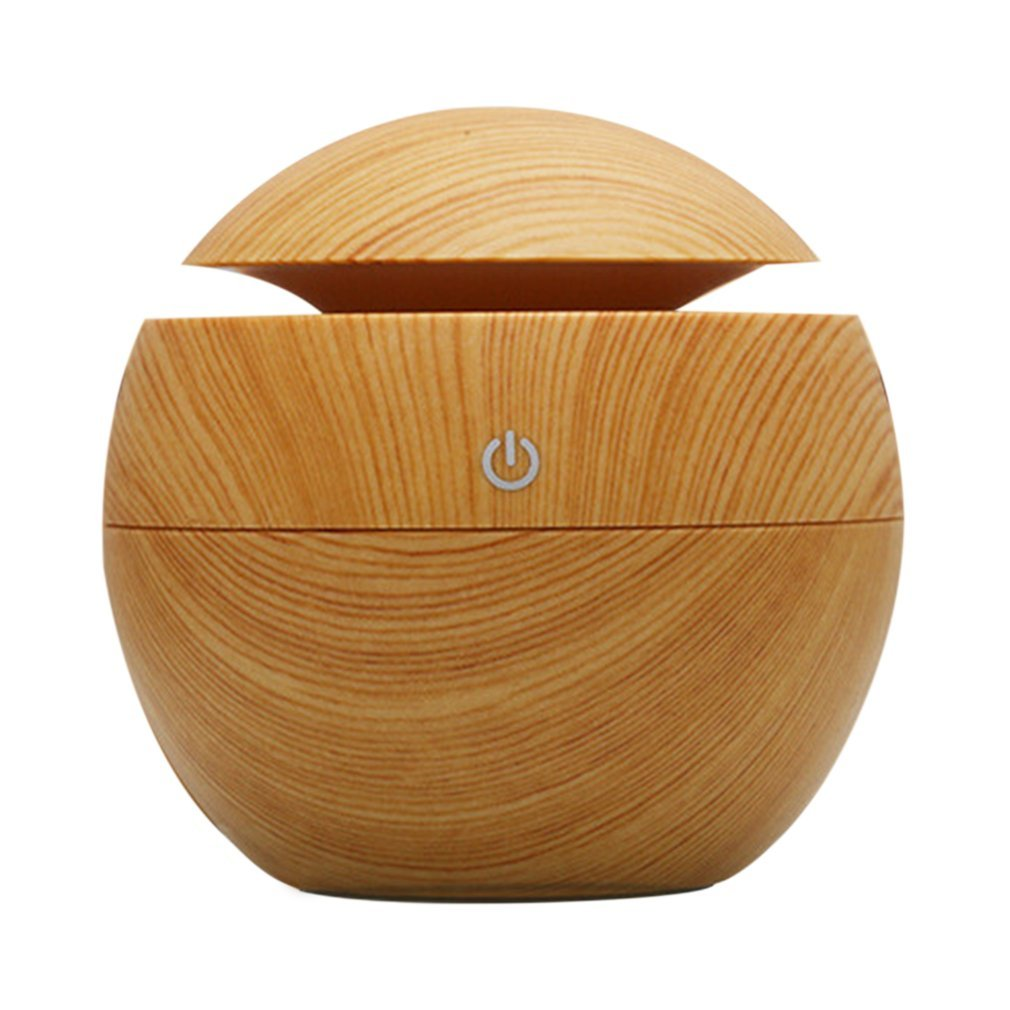 DEBEME 130ML Ultrasonic Aroma Diffuser Portable Size Wooden Home Office Aroma Essential Oil Diffuser Ultrasonic USB Rechargeable Mist Humidifier