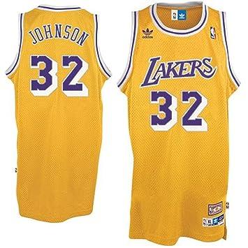 f2b1de702 adidas Earvin Magic Johnson  32 Los Angeles Lakers NBA Hardwood Classics  Retired Player Soul Swingman