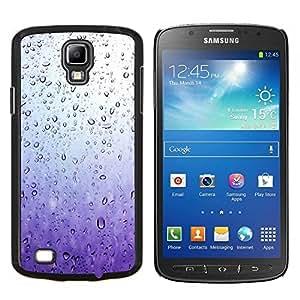 TECHCASE---Cubierta de la caja de protección para la piel dura ** Samsung Galaxy S4 Active i9295 ** --Purple Raindrops Vidrio Agua Primavera triste
