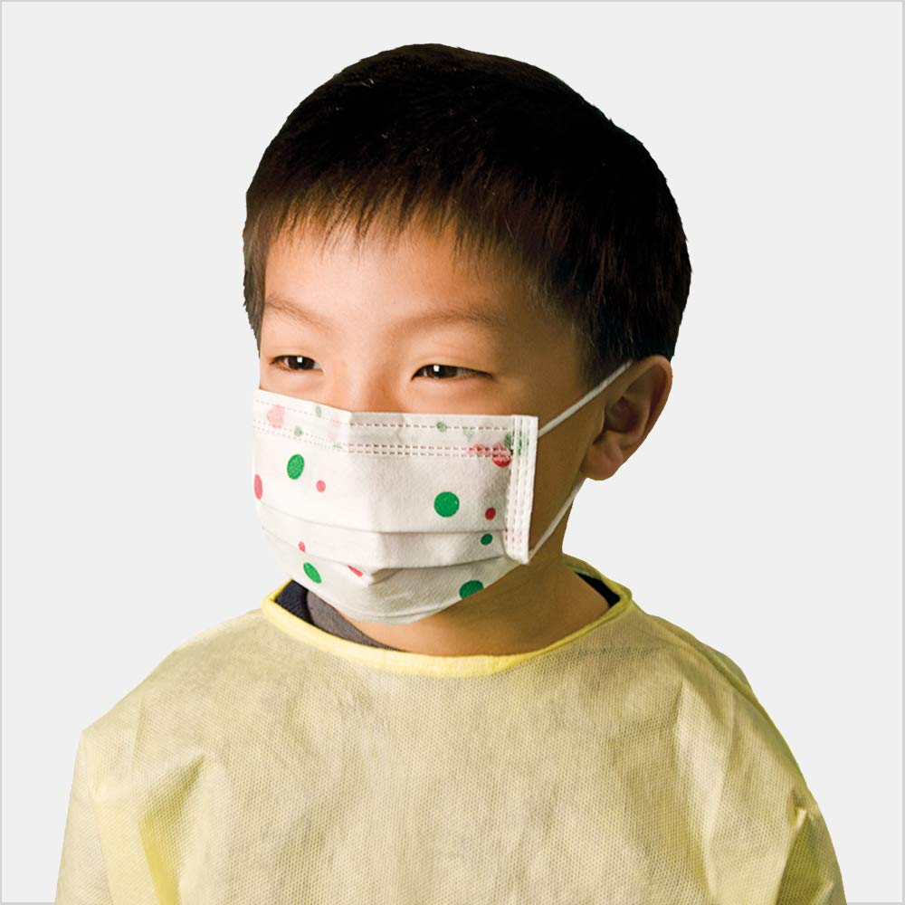Tronex Child Procedure Face Mask, Dotted (Box of 50)
