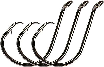 50Pcs Offset Sport Circle Hooks High Carbon Steel Octopus Fishing Hook Saltwater