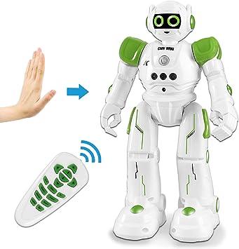 HBUDS Giocattoli Robot Telecomandati, Robot di Controllo Gestuale RC per Bambini, Robotica Programmabile Ricaricabile Canto, Danza, a Piedi Ragazzi