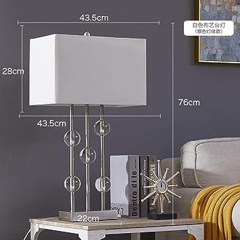 Lámpara De Mesa Dormitorio Retro Americano, Salón Moderno ...