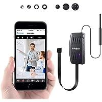 FREDI IP Cámara Cámara Espía/Oculta HD 1080P Spy Mini WiFi Cámara P2P Portátil Inalámbrico/Detección de Movimiento Cámara de Vigilancia Admite Tarjeta de hasta 128 GB(no Incluye) Camara de Seguridad
