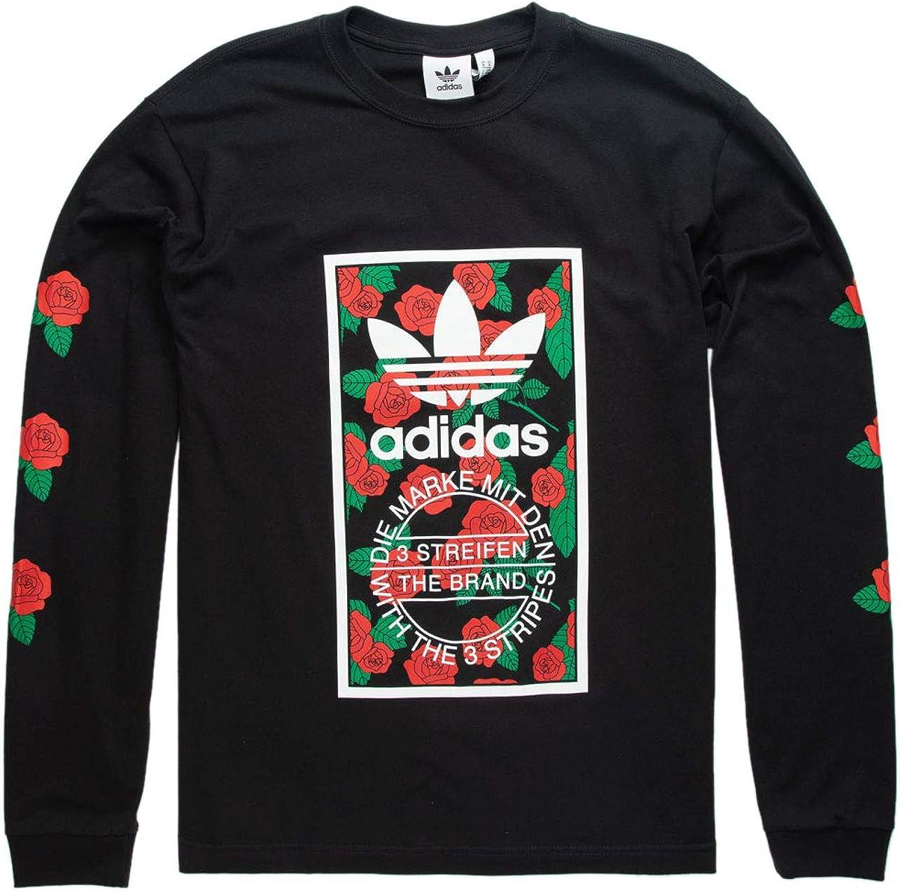 origen Consulta Supone  adidas Rose Box Logo Black T-Shirt at Amazon Men's Clothing store