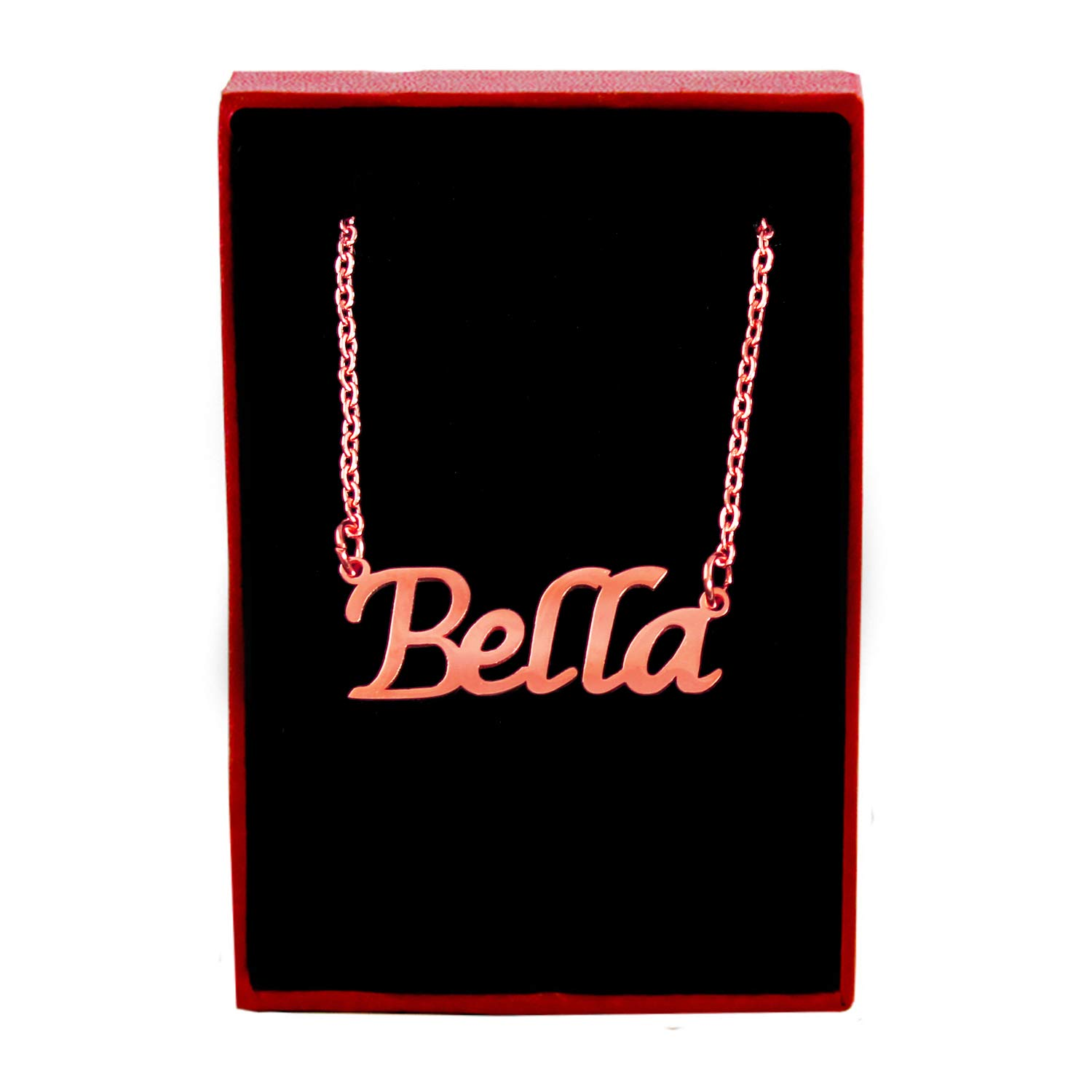 18ct Rose Gold Plated Zacria Bella Custom Name Necklace Personalized