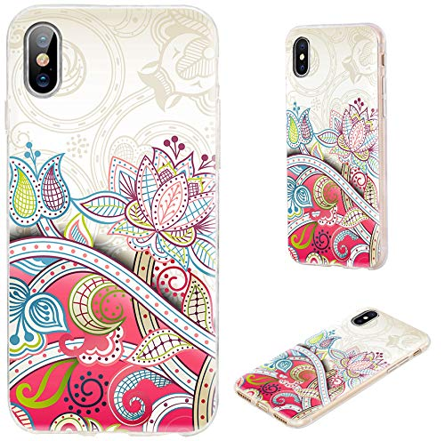 check out 4f0cd dbafe iPhone Xs Max Case,VoMotec Shockproof Slim Flexible Soft TPU 360 Full  Protective Clear Thin Phone Cover Cases with Art Design for iPhone Xs Max  6.5 ...