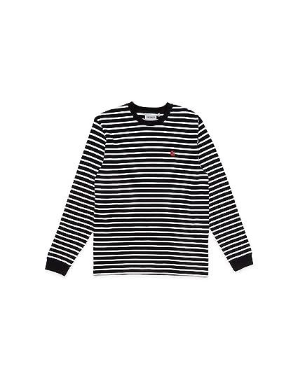 sprawdzić za kilka dni taniej CARHARTT WIP Long Sleeve Robie Striped T-Shirt Black & Red ...