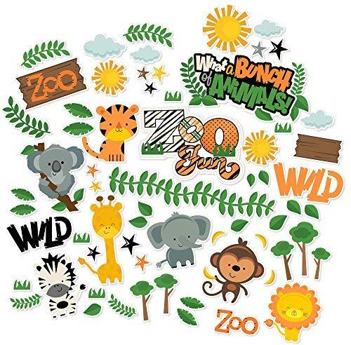 (Paper Die Cuts - Zoo Fun - Over 60 Cardstock Scrapbook Die Cuts - by Miss Kate Cuttables)