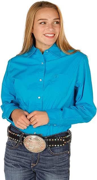 Wrangler Apparel - Camisa para Mujer con Botones Color Turquesa - Azul - Small: Amazon.es: Ropa y accesorios