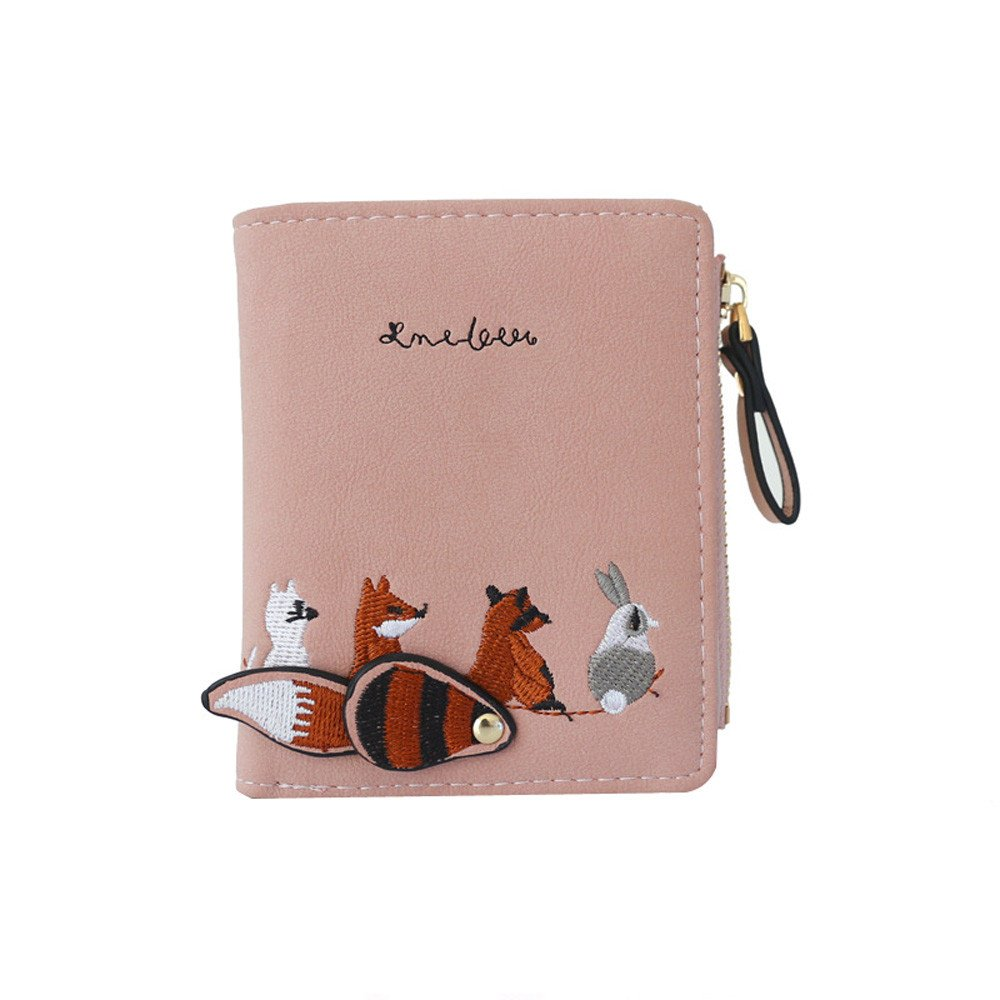 ALIKEEY Moda Mujer Cartera Adorable Cartoon Animales Moneda ...