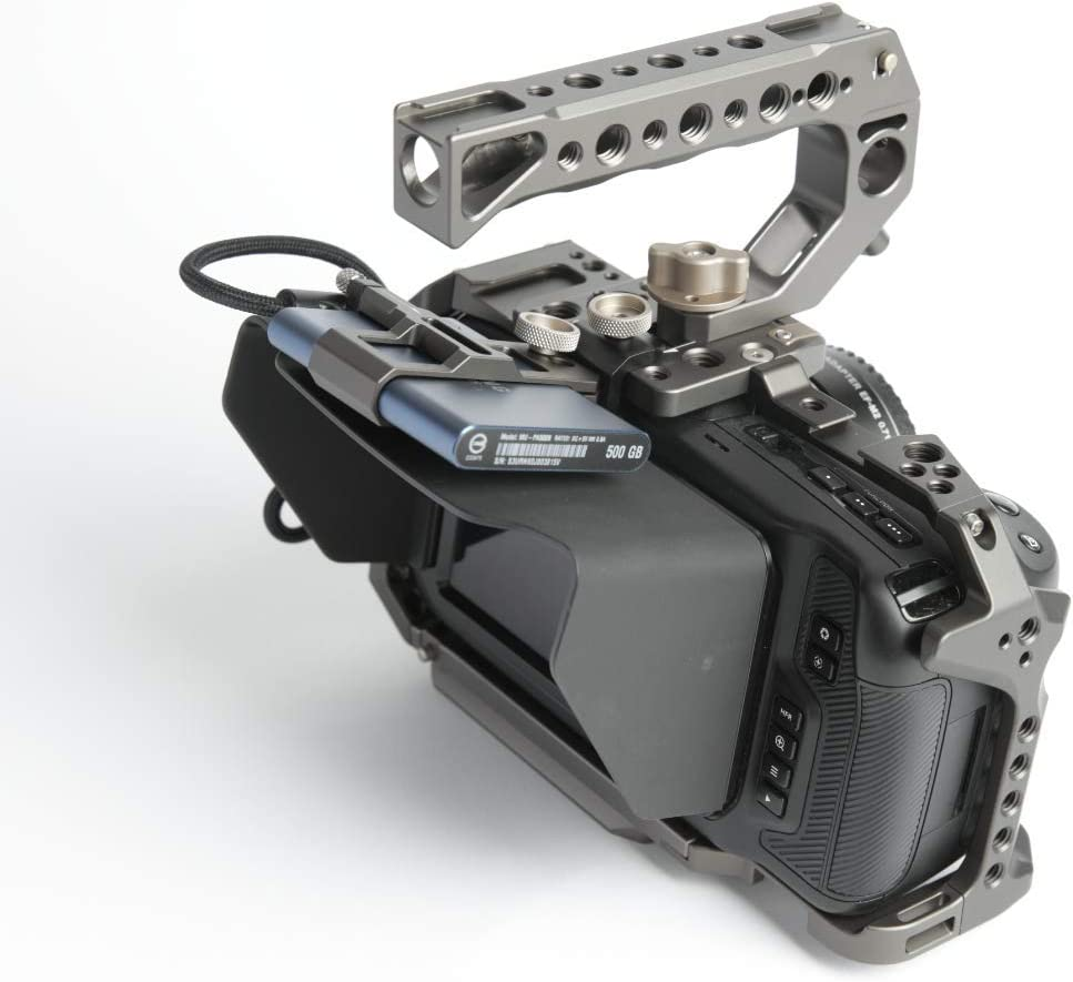 TILTA TA-T01-B-G-2 BMPCC 4K // BMPCC 6K Cage Blackmagic Pocket Cinema Camera 4K // 6K Cage Rig Half Sunhood Tilta Gray Basic 2 Kit
