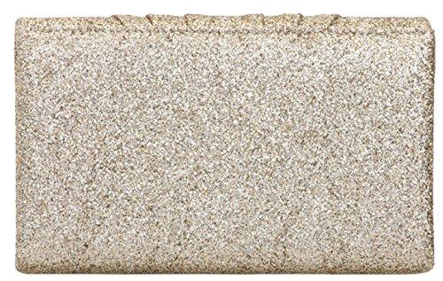 Girly Handbags - Cartera de mano de Material Sintético para mujer champán