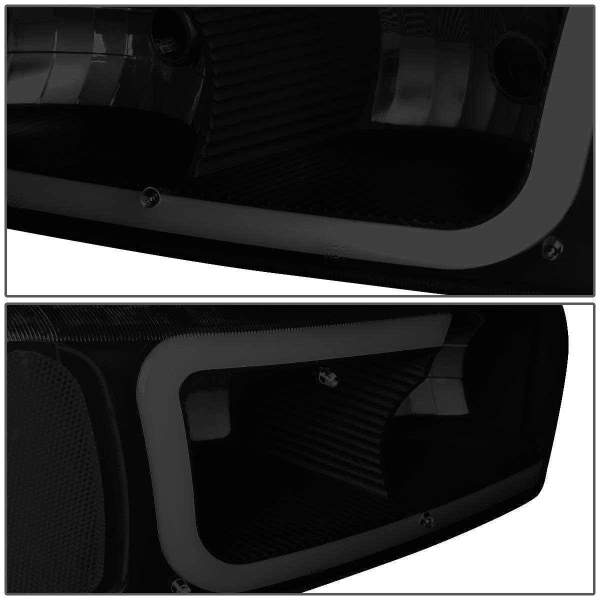 DNA Motoring HL-LB2-SIERRA99-BK-SM-CL1 LED DRL Front Driving Headlight+Turn Signal Bumper Lamps Upgrade